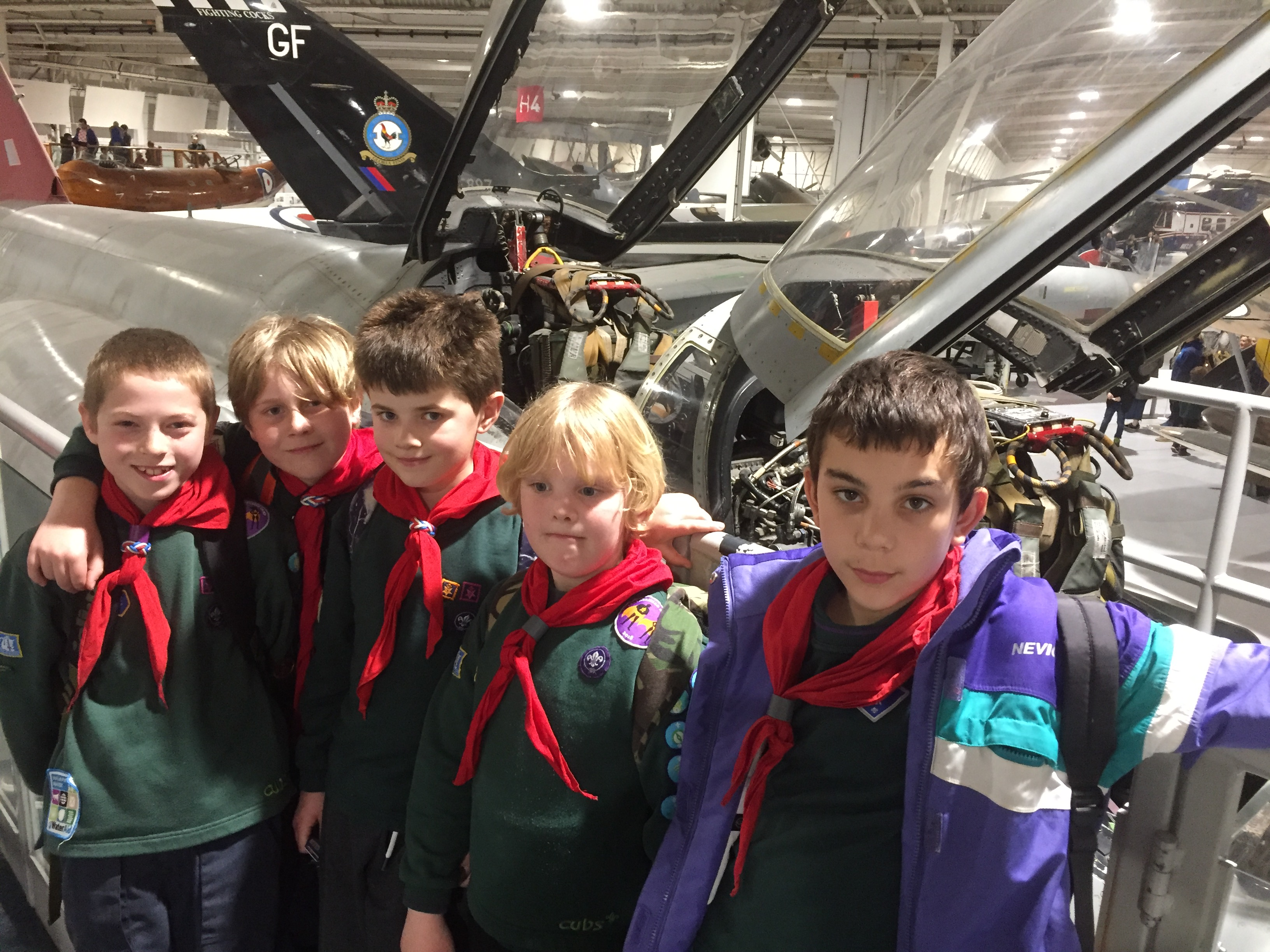 Cubs Visit to  RAF Hendon 2019